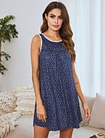 cheap -Women's Home Polyester Loungewear Polka Dot S Black