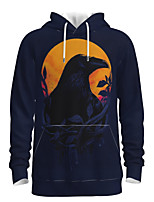 cheap -Daddy and Me Active Graphic 3D Print Print Long Sleeve Regular Hoodie & Sweatshirt Navy Blue