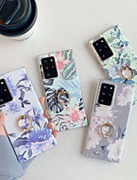 cheap -Case For Samsung Galaxy Galaxy A50(2019) / Galaxy M30(2019) / Samsung Galaxy A40(2019) Ring Holder / Pattern Back Cover Flower TPU
