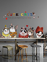 cheap -Animals Wall Stickers 3D Wall Stickers Decorative Wall Stickers, PVC Home Decoration Wall Decal Wall Decoration 2pcs
