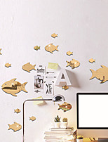 cheap -Fish / Animals Wall Stickers Mirror Wall Stickers Decorative Wall Stickers Acrylic Home Decoration Wall Decal Wall Decoration 32pcs