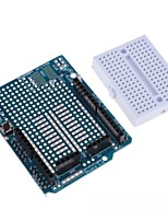 cheap -UNO R3 Proto Shield Prototype Expansion Board with SYB-170 Mini Breadboard Based for Arduino UNO R3 ProtoShield