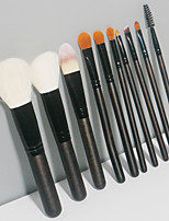 cheap -10 Pcs makeup brush set brush animal hair beginners blush eye shadow brush highlight brush beauty tools