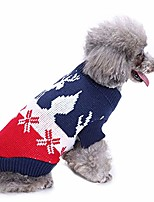 cheap -christmas dog clothes for small dogs cute reindeer pet dog christmas knitted sweater puppy cat winter sweatshirt clothes warm knitwear hoodies