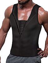 cheap -slim body shaper men compression underwear shirt tight vest waist training tank top girdle (m, black)