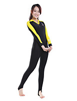 cheap -Bluedive Women's Rash Guard Dive Skin Suit Diving Suit Breathable Quick Dry Stretchy Long Sleeve Front Zip - Swimming Surfing Water Sports Patchwork Spring &  Fall Autumn / Fall Spring / UPF50+