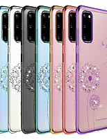 cheap -Case For Samsung Galaxy Note 9 / Note 8 / S20 Plus Shockproof / Plating / Transparent Back Cover Flower TPU