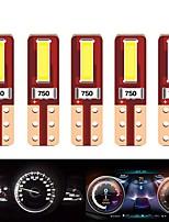 cheap -10PCS T5 Led Bulb W3W W1.2W T5 LED super bright CSP LED 2SMD Car dashboard LED Car Interior Light Auto Side Wedge Light 12v