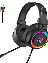 cheap -V5 RGB Gaming Headphones Colorful Lighting E-sports for Computer with Microphone Big Earmuffs Headphone Wired Bass Headset