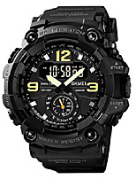 cheap -mens analog digital watch waterproof sport watch fashion casual quartz watch (black)
