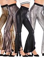 cheap -Hippie Disco Hippie 1970s Disco Pants Masquerade Women's Cotton Costume Golden / Black / Silver Vintage Cosplay Party Halloween