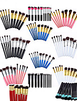 cheap -10pcs makeup brush set portable type wooden handle 5 big 5 small makeup brush large type beauty tools