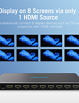 cheap -Vention HDMI Splitter 1 in 8 out 4k 1x8 splitter HDMI Switch Adapter With Power Supply for TV PS3/4 Laptop HDMI Splitter Metal