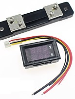 cheap -DC 100V 50A Mini Digital Voltmeter Ammeter Current Voltage Meter Tester 0.28 Red Dual LED Display with Shunt