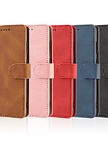 cheap -Case For Samsung Galaxy Note 20 Ultra Wallet Card Holder with Stand Full Body Cases Solid Colored PU Leather Galaxy S20 Plus S10E Note 10 S9 S8 S7 Edge Note 9 Note 8 A10 A20 A30 M31 M51