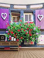 cheap -Love Flowers Outside The Window Digital Printed Tapestry Classic Theme Wall Decor 100% Polyester Contemporary Wall Art Wall Tapestries Decoration