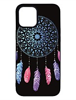 cheap -Case For Apple iPhone 12 / iPhone 12 Mini / iPhone 12 Pro Max Frosted / Pattern Back Cover Feathers TPU