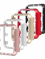 cheap -compatible with apple watch case 42mm, metal bumper protective cover frame accessories women girl bling shiny crystal rhinestone diamond compatible iwatch series 3/2/1 (5 color pack, 42mm)