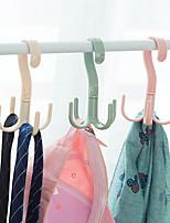 cheap -4pcs Rotary 4-claw Multi-purpose Hanger Hook Hanger Tie Scarf Clothes Hanger Plastic Hook Shoe Hanger
