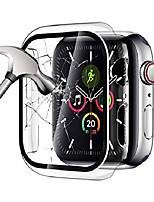cheap -clear case compatible with apple watch series 5 series 4 44mm with built-in tempered glass screen protector, thin clear bumper full coverage cover for iwatch accessories