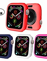 cheap -for watch case 38mm 42mm 40mm 44mm premium soft flexible tpu thin lightweight protective bumper cover screen protector for smartwatch series 5 series 4 3 2(c-colorful x4,42mm series 3/2)