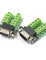 cheap -DB9 Female Male Signal Terminal Adapter RS232 Module DB9 Serial To Terminal Connector