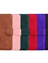 cheap -Case For LG LG Stylo 5 / LG Q60 / LG K50 Wallet / Card Holder / with Stand Full Body Cases Solid Colored PU Leather / TPU