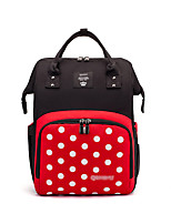 cheap -Unisex Polyester Oxford School Bag Diaper Bag Commuter Backpack Large Capacity 20L Zipper Geometric Pattern Daily Professioanl Use Red black Black / White
