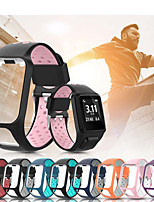 cheap -Silicone Watch Band for TomTom Runner 3 Cardio Music / TomTom Adventurer / TomTom Runner 2 Cardio Music / TomTom Golfer 2 / TomTom Spark 3 Cardio Music Replaceable Bracelet Wrist Strap