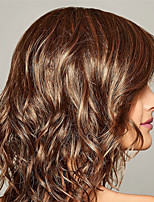 cheap -Synthetic Wig Curly Asymmetrical Wig Medium Length Light Brown Dark Brown Synthetic Hair Women's Fashionable Design Classic Exquisite Dark Brown Light Brown