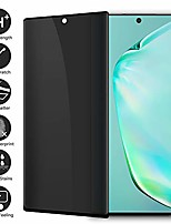 """cheap -galaxy note 10+ 3d curved privacy tempered glass screen protector, defender 9h hardness case friendly anti-spy peeking tempered glass screen protector, for samsung galaxy note 10+ (6.8"""")"""