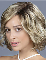 cheap -Synthetic Wig Curly Asymmetrical Wig Short Blonde Synthetic Hair Women's Fashionable Design Exquisite Romantic Blonde