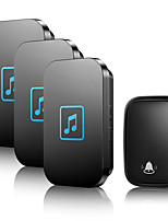 cheap -CACAZI Self-powered Home Wireless Doorbell Waterproof No Battery Button 1 Transmitter 3 Receiver