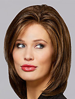 cheap -Synthetic Wig Natural Straight Asymmetrical Wig Medium Length Light Brown Dark Brown Blonde Synthetic Hair Women's Fashionable Design Classic Exquisite Dark Brown Light Brown