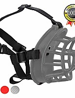cheap -dog muzzle, upgraded soft rubber basket muzzles cage muzzle for small medium large dogs, allows panting and drinking, prevents unwanted barking biting and chewing