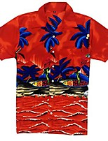 cheap -hawaiian shirt for men's short sleeve casual fashion beach shirt