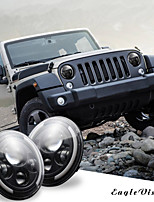 cheap -1Pcs 7 Inch Round Black Cree LED Headlight High Low Beam 150W 15000IMS with 4LED Light Bulbs Compatible with Jeep Wrangler JK TJ LJ CJ Hummber H1 H2 (Pair)