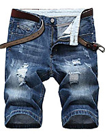 cheap -but& #39;s casual ripped holes denim shorts summer jeans, blue, us 40