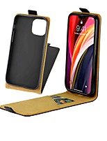 cheap -Case For iPhone 12 Pro Max Card Holder with Stand Magnetic Full Body Cases Solid Colored Genuine Leather Case For iPhone iPhone 12 Mini iPhone SE 2020 iPhone 11 Pro Max iPhone XS Max XR 7 Plus 8 Plus