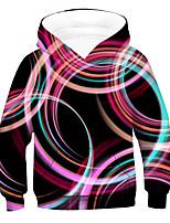 cheap -Kids Boys' Active 3D Drawstring Long Sleeve Hoodie & Sweatshirt Rainbow