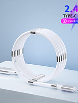 cheap -Magnetic Automatic Retractable Storage Micro USB Type C Cable Fast Charging For Samsung Xiaomi Data Charge Wire Phone USB C Cord
