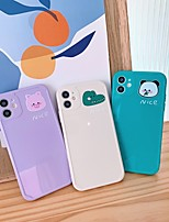 cheap -Case For Apple iPhone 11 Shockproof / Dustproof Back Cover Solid Colored / Animal TPU For Case iphone 11 Pro/11 Pro Max/7/8/7P/8P/SE 2020/X/Xs/Xs MAX/XR