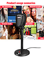 cheap -Microphone Vocal Record Singing Studio PC USB 3.5mm for Computer Vol Adjust Switch Rotatable Flexible Professional Mic