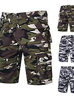 cheap -Men's Hiking Shorts Hiking Cargo Shorts Camo Summer Outdoor Breathable Ventilation Soft Comfortable Cotton Shorts Bottoms Army Green Grey Hunting Fishing Climbing 28 29 30 31 32 / Multi-Pocket