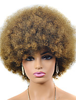 cheap -Synthetic Wig black Afro Short Bob Wig Short Black Synthetic Hair Women's For Black Women Black