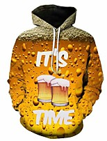cheap -Inspired by Cosplay Beer Cosplay Costume Hoodie Plush Fabric 3D Printing Hoodie For Men's / Women's