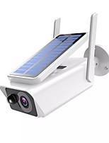 cheap -1080P Wireless Wifi Security Outdoor Low Power Solar Panel ICSEE Home Security Waterproof Night Vision WIFI CCTV Bullet Camera