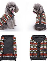 cheap -puppy warm sweater with buttons winter pet clothes (s, red)