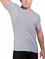 cheap -men's sweat proof undershirt, crew neck, anti-odor, cotton, sweat pads (x-small, grey)