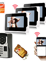 cheap -Tuya APP Video Doorbell Wired/Wifi 7inch Monitor Video Door Phone Home Security 1080P HD Camera Motion Detect Snapshot Recording Remote Control Night Vision